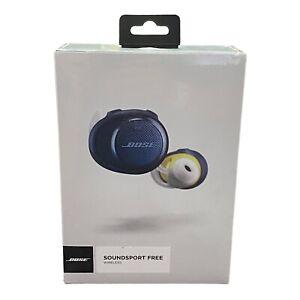 Bose 774373-0020 SoundSport Free Wireless In-Ear Headphones (Navy/Citron) SEALED