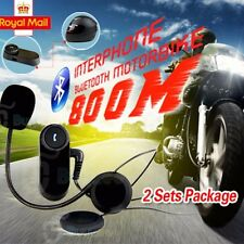 2 Sets 800M Interphone Bluetooth Motorbike Motorcycle Helmet Intercom Headset