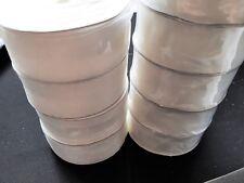 SHEER CLASS PREMIUM ORGANZA RIBBON WITH WOVEN EDGE 25mm  WHITE X 5 METRES