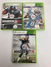 Madden NFL 07 (Microsoft Xbox 360, 2006) Complete 2013 2015 Bundle