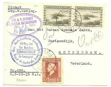 NED INDIE DUTCH INDIES 1946  COVER  DIV. STEMPELS  FRAAI  TO HOLLAND