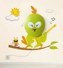 Nachtlicht Wandlampen mit abnehmbaren Wandstickern Wand-Tattoos Singing Bird Neu