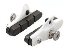 coppia portapattini + pattini freno corsa compatibili shimano 55mm bianco ALLIGA