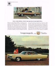 1967 Cadillac Gold Sedan de Ville automobile Car Vtg Print Ad
