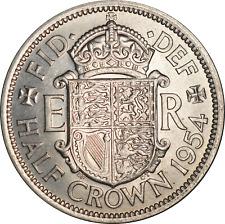 More details for uk elizabeth ii half crown coin 1954 unc spots