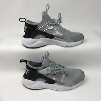 Nike 847568-009 Youth Air Huarache Run Ultra Shoes Black Wolf Grey Size 4