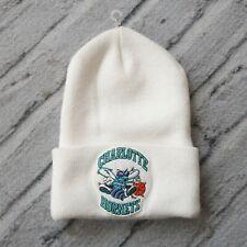Vintage New 90s Charlotte Hornets Beanie Hat Cap White