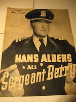 Hans Albers in Sergant Berry 217-IFK Nr.2887 aus den 30.40.Jahren, film program