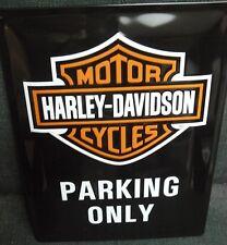 HARLEY DAVIDSON PARKING ONLY ,STEEL EMBOSSED SIGN,METAL SIGNS/PLAQUE,MOTORCYCLE