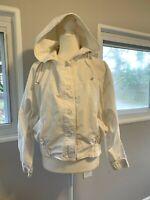 Gitano Vintage 80's RETRO WHITE Bomber Jacket small