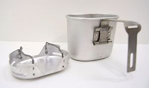 Belgian Army Cup + Stove Compact Lightweight Cook Stand + Mug Set Field Camping