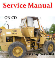 Case W18 W20 Articulated Loader Shop Service Repair Manual W-18 W-20 Tractor CD