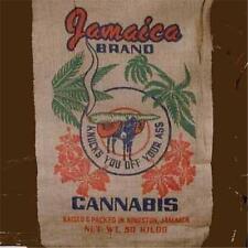 JAMICAN POT LEAF MARIJUANA  BURLAP BAG Jamaica pot leaf hippie sack