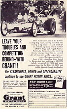 1961 CHRIS KARAMESINES DRAG RACING  ~  ORIGINAL GRANT PISTON RING AD