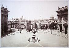 PHOTO ORIGINAL ALBUMEN XIX ROME ITALIE PLACE DU CAPITOLE ROMA ITALIA it31