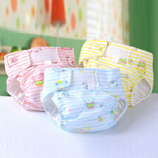 Newborn Baby Kids Adjustable Washable Reusable Cotton Nappy Cover Cloth Diaper