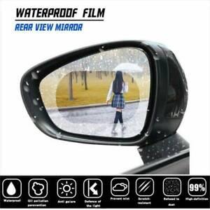 Car Anti Water Mist Film 2Pcs Anti Fog Rainproof Rearview Mirror Clear vision UK