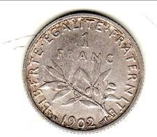 1 FRANC SEMEUSE ARGENT 1902  TTB
