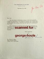 FRANK KNOX - SEC OF NAVY - LETTER - AUTOGRAPH  -1941- L B. MAYER - WAR RELIEF