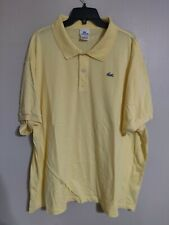 d6f9d171 Lacoste Pastel Yellow S/S Collared Casual Polo Shirt -Men's 12 Big/Tall