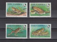 TIMBRE STAMP  4 GAMBIE Y&T#454-57 GRENOUILLE FROG  NEUF**/MNH-MINT 1982 ~B22