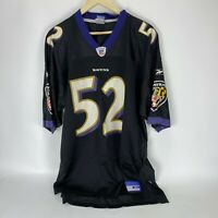 NFL Players Baltimore Ravens Ray Lewis #52 Short Sleeve Jersey Size Men's XL