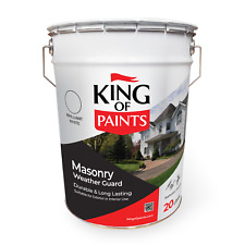 White Exterior Paint Bright White King of Paints 20 Litres