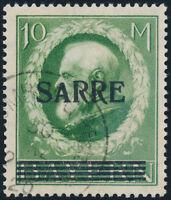 SAARGEBIET, MiNr. 31 I, sauber gestempelt, Befund Braun, Mi. 800,-