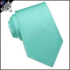 MINT Green Woven Texture Mens Tie Men's Necktie