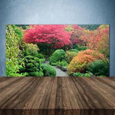 Küchenrückwand aus Glas ESG Spritzschutz 140x70cm Garten Blütenbaum Natur
