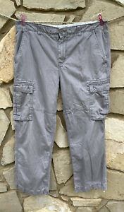Mens The North Face Cargo Pants Gray Hiking Utility Outdoors Size 38 x 41.5