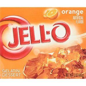 JELL-O Jello Gelatin Dessert Pack of 4 (Orange)