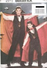 Pattern Butterick Sewing Men'sand Boy's Costume Vampire SIZE S-L 2001 NEW OOP