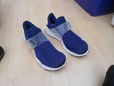 NIKE SOCK DART - BLUE -  UK SIZE 10 - USED - IN GOOD CONDITION