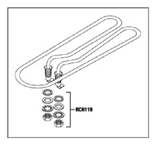 HEATER ELEMENT ASSEMBLY for AUTOCLAVES MIDMARK RITTER M9/M9D RPI #MIH048