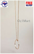 NEW Necklace Simple Circle Pendant Gold Women Girls Jewelry