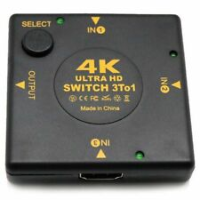 4K HDMI Switch Box Selector 3 In 1 Out kvm Audio Extractor Hub Splitter Swi L1D6