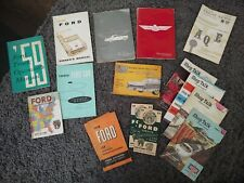 New ListingLot Of 1950's Ford Manuals 1952 1953 1955 1956 1958 1959 Thunderbird Car Truck
