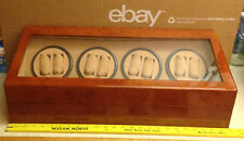 NICE WATCH DISPLAY CASE LARGE HOLDS 20 WATCHES, 2 ROTATING, JEWELRY BOX ELECTRIC