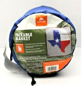 """Ozark Trail Packable Texas Flag Outdoor PicNic Concerts Camping Blanket 60""""x70"""""""