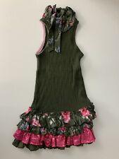 Monnalisa Green Sleeveless Dress Age 10 Years Size 140cm