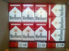 60 Marlboro Reds Used Empty Cigarette Boxes Packs Tobacco Arts Crafts FREE SHIP