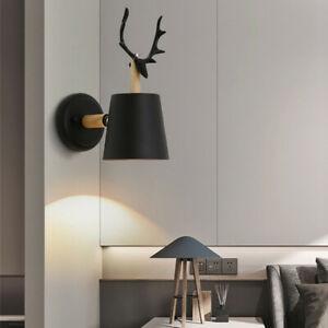 2x E27 LED Wandleuchte Wandlampe Schirm Schwarz Lampe Schlafzimmer Wohnzimmer