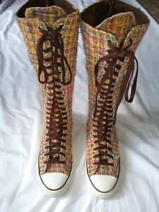 """CONVERSE HIGH TOP SHOES SIZE MENS 6 WOMENS 10 ZIP UP ON BACK 16"""" HIGH"""