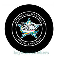 2019 NHL ALL STAR SKILLS SAN JOSE OFFICIAL GAME HOCKEY PUCK  w/cube - RARE