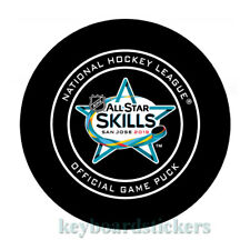 2019 NHL ALL STAR GAME SKILLS SAN JOSE OFFICIAL GAME HOCKEY PUCK  w/cube - RARE