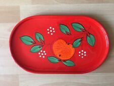 Wächtersbach Apfel große Platte Servierplatte Fleischplatte rot orange grün