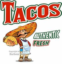 Tacos DECAL (CHOOSE YOUR SIZE) Mexican Food Truck Concession Vinyl Sign Sticker
