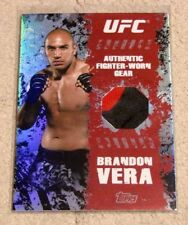 2010 Topps UFC Main Event BRANDON VERA FR-BV 2-Color Fighter Worn Gear Relic