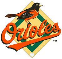 "Baltimore Orioles MLB Logo Vinyl Decal - You Choose Size 2""-28"""